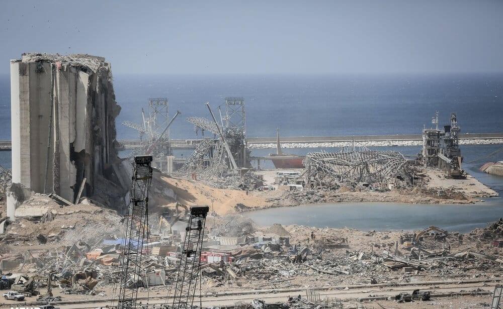 El puerto de Beirut tras las explosiones del 4 de agosto de 2020 (Foto: Mehr News Agency)