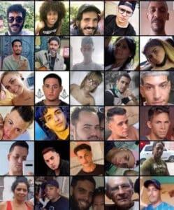 Se ignora el paradero de muchos de los manifestantes arrestados. En las redes circulan las fotos de algunos.
