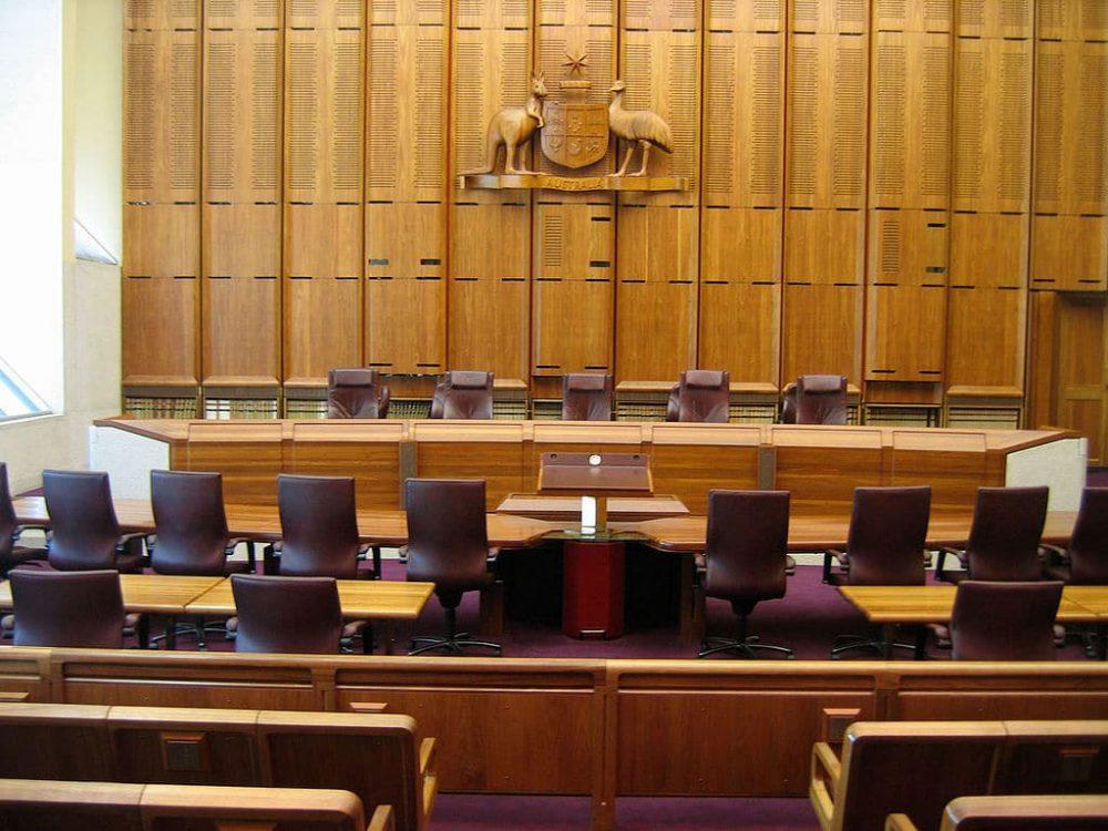 Una sala del Tribunal Supremo de Australia en Canberra (Foto: John O'Neill)