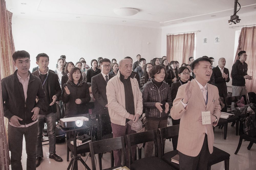 "Una ""iglesia doméstica"" protestante en Pekín (foto: Huang Jinhui)"