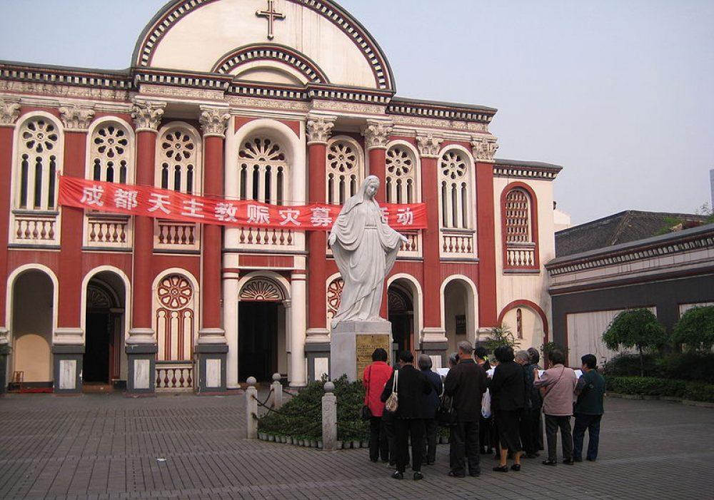 Virgin Mary Statue in Chengdu Green Bridge Church