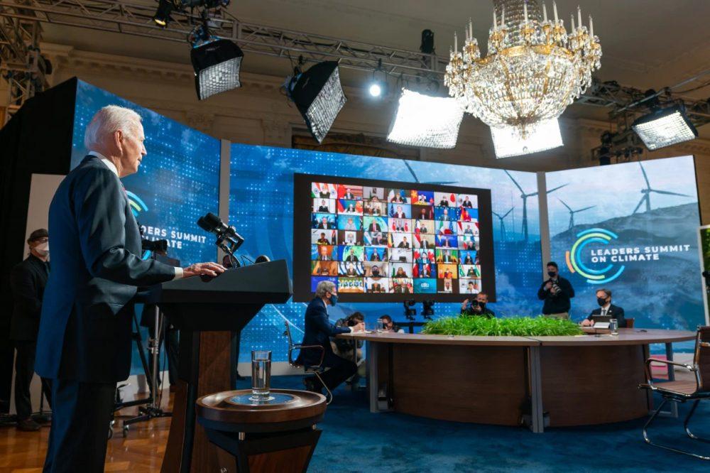 El presidente de EE.UU. Joe Biden inaugura la Cumbre virtual sobre el Clima, 22-04-2021 (foto Casa Blanca) (1)