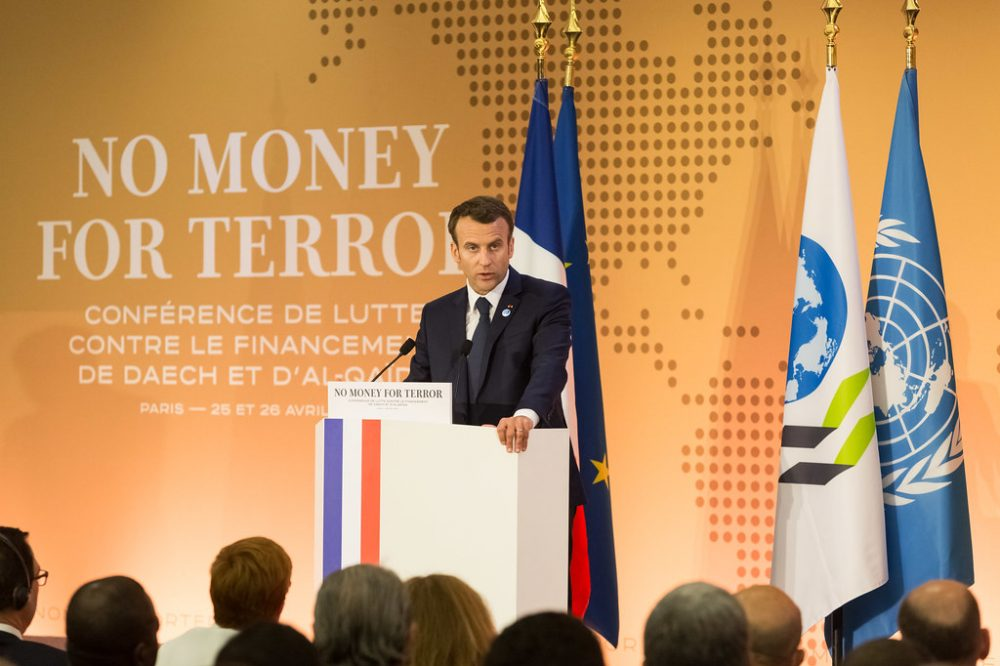 Emmanuel Macron en la sede de París de la OCDE, en 2018. CC OCDE-Victor Tonelli