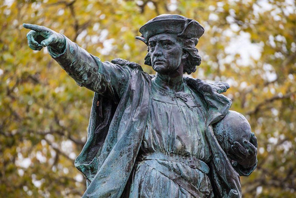 Estatua de Colon en Rhode Island. Foto: Kenneth Zirkel