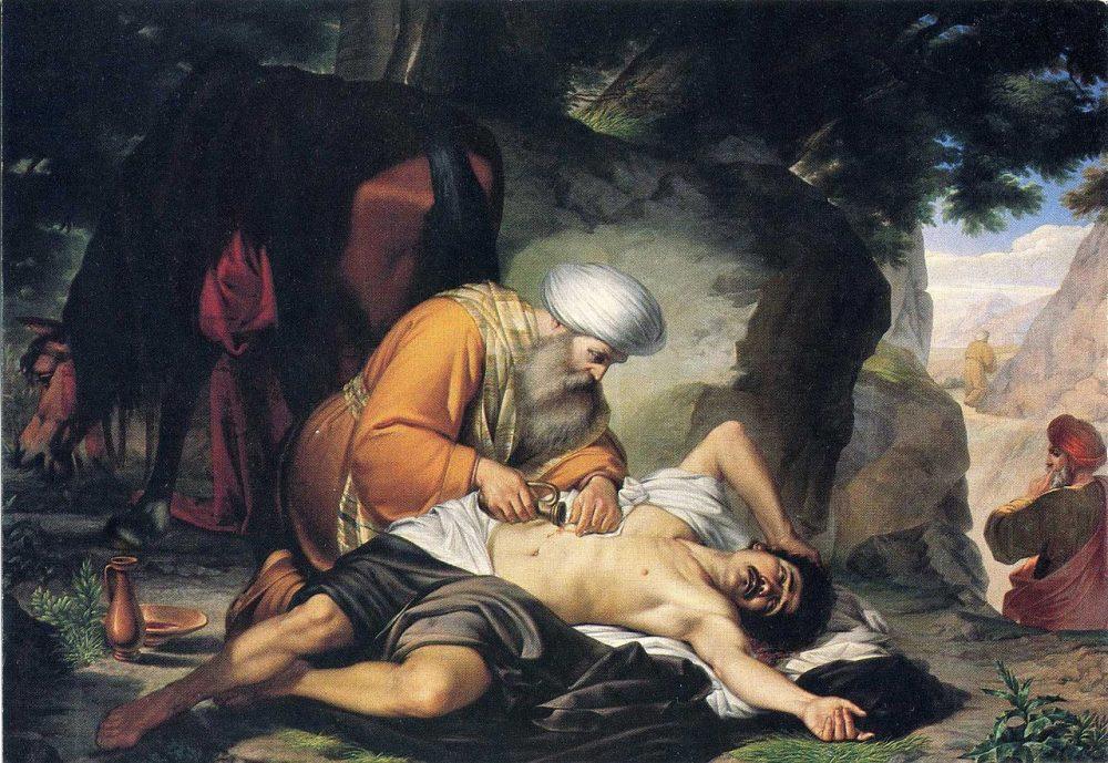 "Giacomo Conti (1813-1888), ""La parábola del buen samaritano"""