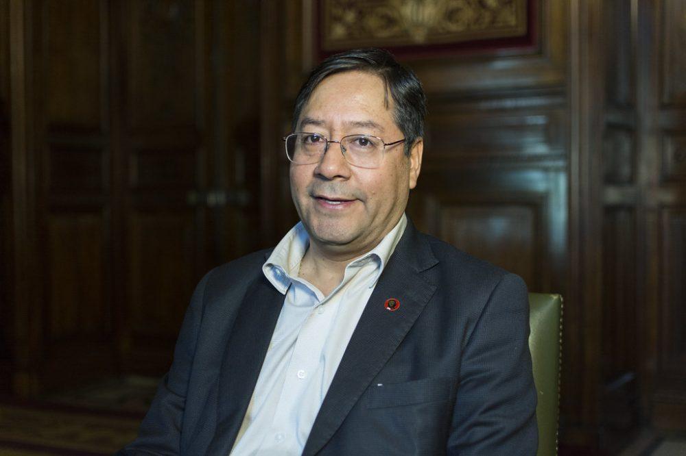 Luis Arce, nuevo presidente de Bolivia, en 2019, cuando era ministro de Economía (CC Casa de América)