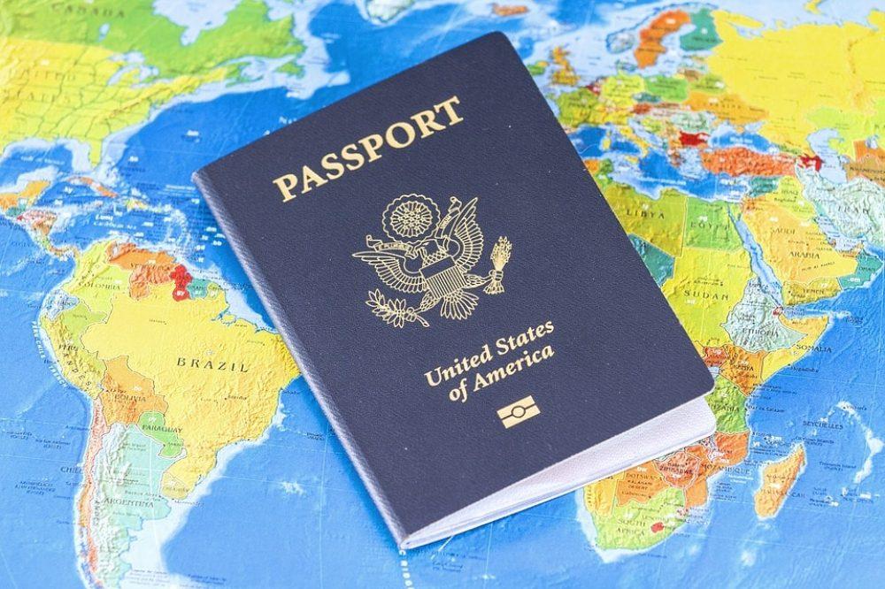 Visa Travel Passport Flag Usa Identification
