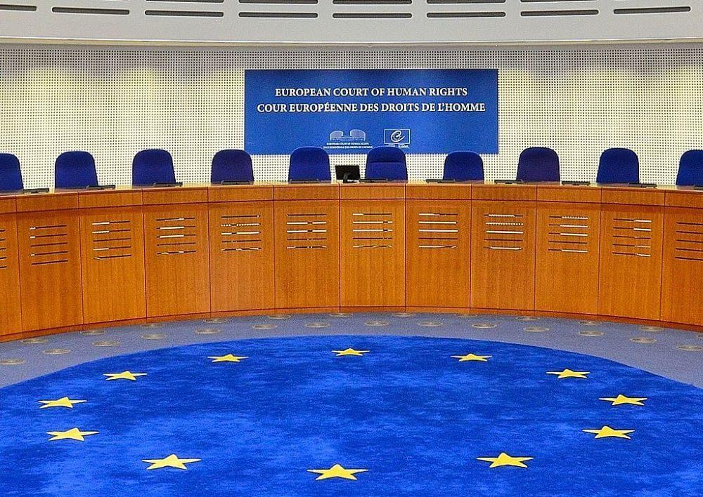 Sala del Tribunal Europeo de Derechos Humanos, en Estrasburgo (CC Adrian Grycuk)