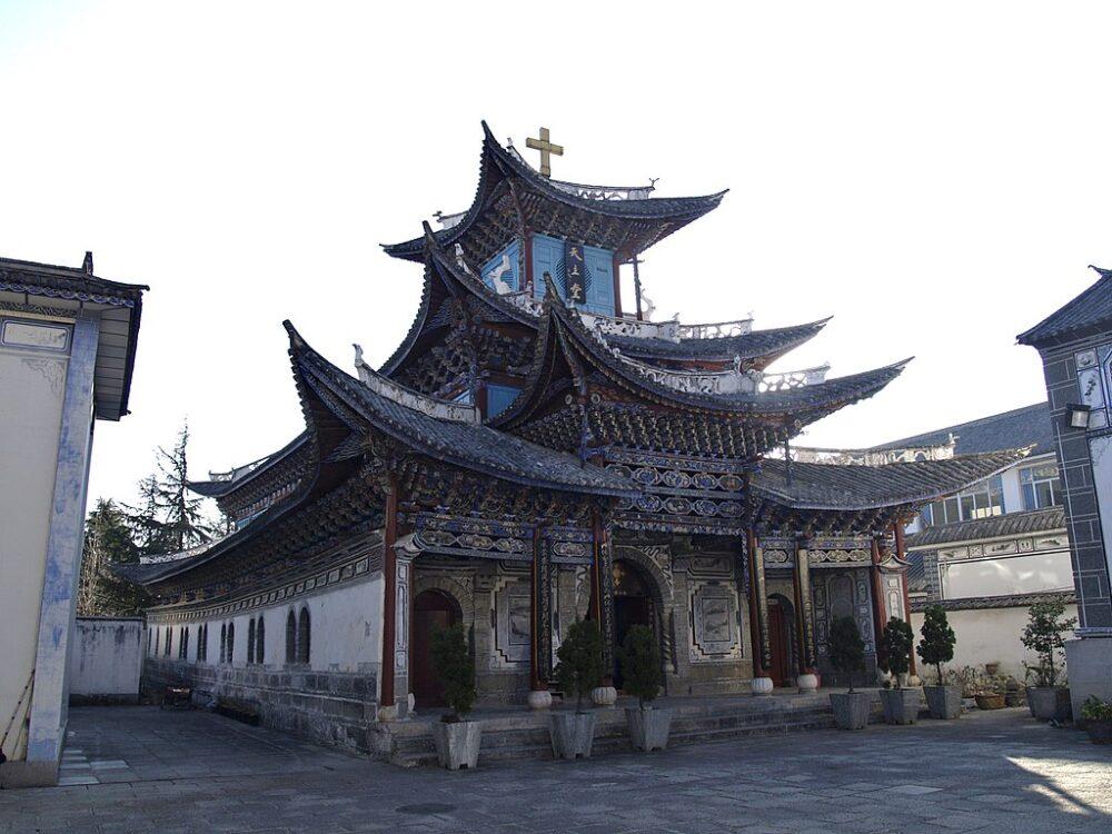 Templo católico en Dali, provincia de Yunnan (China) (CC Deadkid dk)