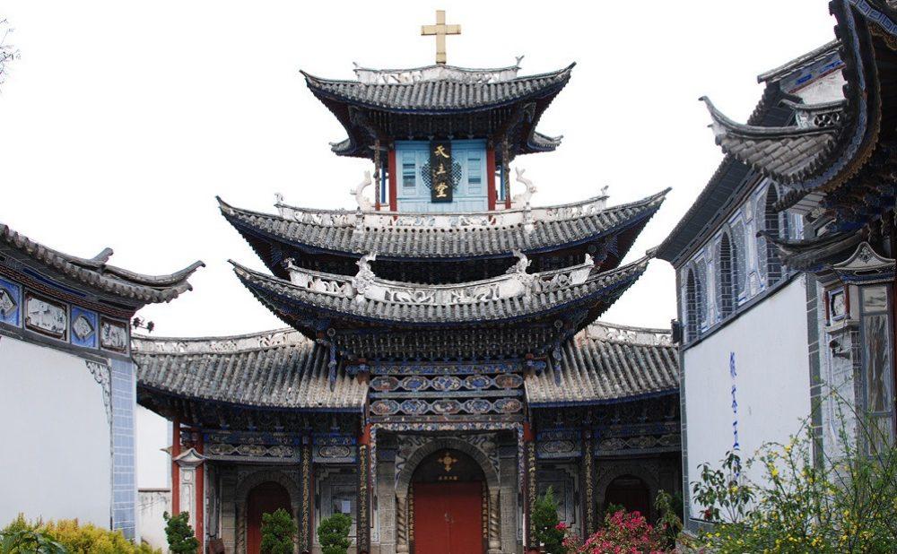 Una iglesia católica en Dali, China (foto Stephen Bugno)