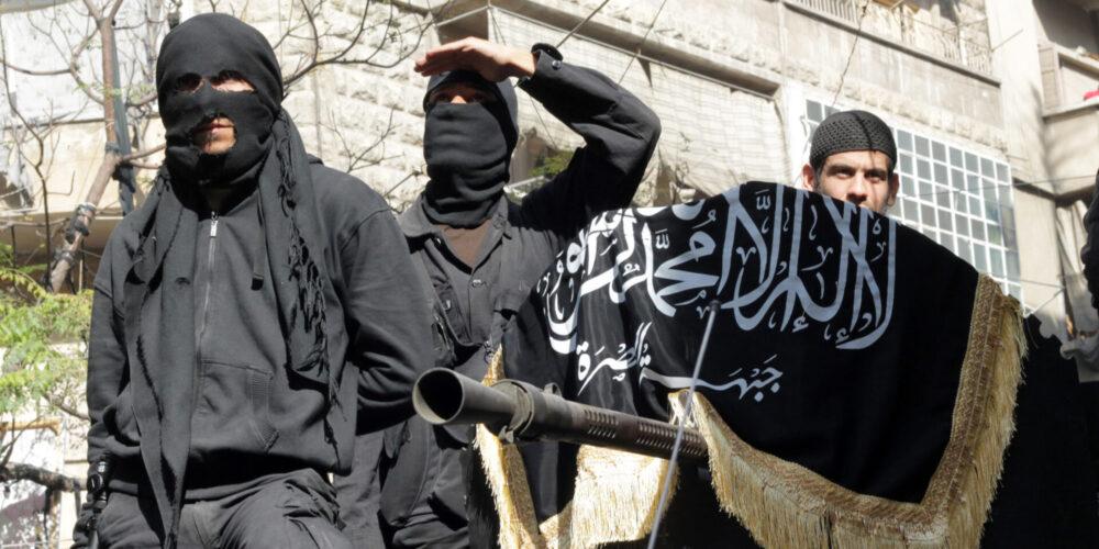 Yihadistas de la organización Al Nusra (Foto Karam al Masri)