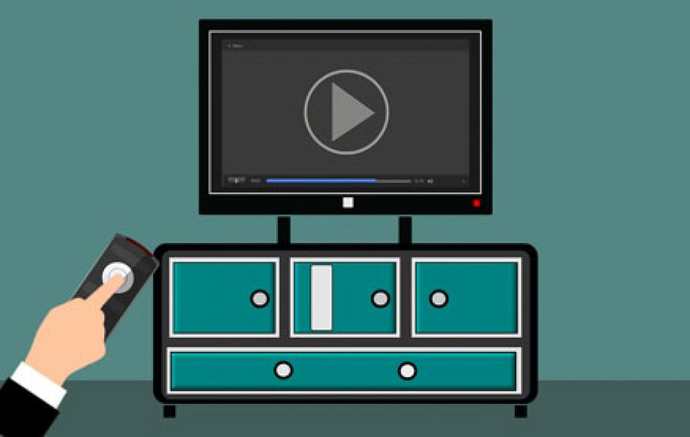 el streaming se hace con el mando